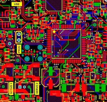 4-Layer PCB with different trace widths