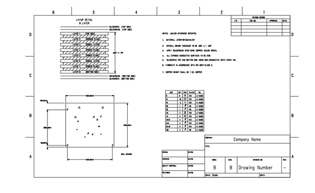 Fabrication Drawing Example