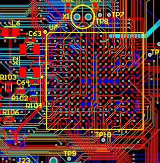 6-Layer PCB with 256-pin BGA